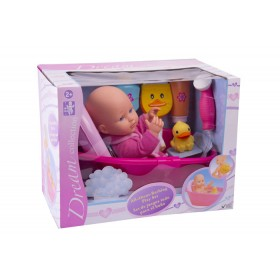 "Muñeca bebé set de baño Gigo Toys Dream collection 14"" Rosada"