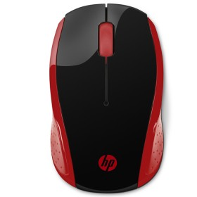 Mouse HP Inalambrico Optico 200 Negro / Rojo