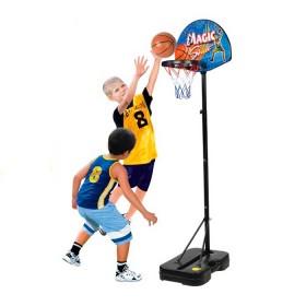 AO JIE Juego Set de Baloncesto: arco con base, pelota e inflador.