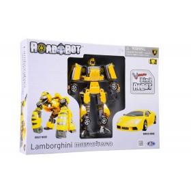 Transformer Robot Lamborghini Murciélago Happy Well Amarillo