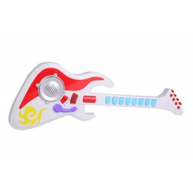 Guitarra eléctrica con sonidos y luces Win fun Blanco