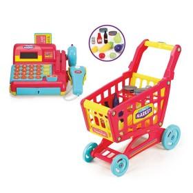 Caja Registradora y Carrito de Supermercado 39 piezas
