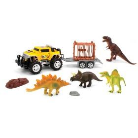 Vehículo Camioneta Remolque con dinosaurios