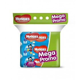 Toalla Húmeda HUGGIES Mega Promo Active Fresh x 288