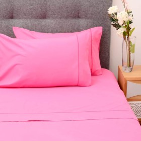 Semijuego de cama K-LINE Doble Ajustable Fucsia 144 hilos