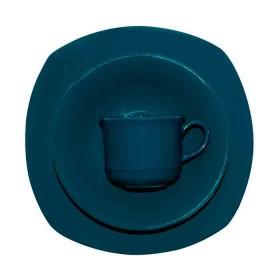 Vajilla 4 puestos CORONA Verde Azul