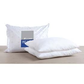Paquete x 3 almohadas DISTRIHOGAR 2 blancas y una estampada