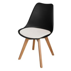 Silla de Diseño TUKASA Negro/Blanco 80033