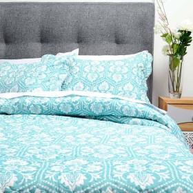 Cubrecama Sencillo K-LINE Miniprint Azul