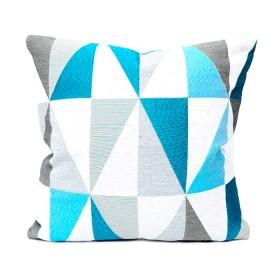 Cojín K-LINE Geometricos Azul Medio