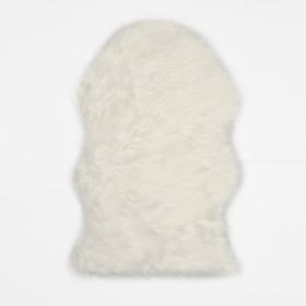 Tapete decorativo K-LINE peludo Blanco