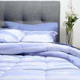 Comforter + CubreCama K-LINE Doble Azul