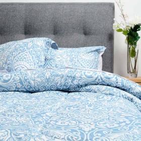 Comforter Ornamentación K-LINE Doble Azul