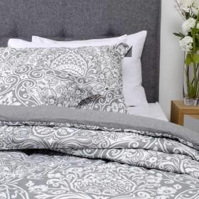 Comforter Sencillo K-LINE Ornamentación Gris