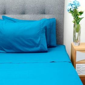 Juego de cama K-LINE Doble FE Azul Profundo 180 Hilos