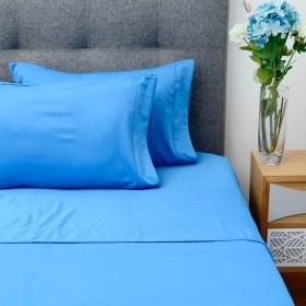 Juego de cama K-LINE Doble Azul Medio Microfibra 100%