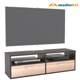 "Mesa TV 46"" Flotante MADERKIT Wengue/Espresso 01105-MP-WP-R"