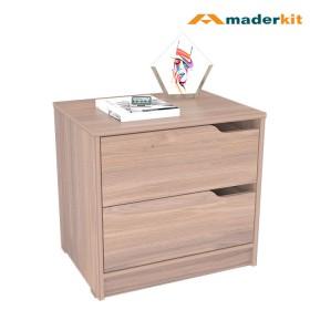 Mesa De Noche MADERKIT Espresso 01162-MN-P-R