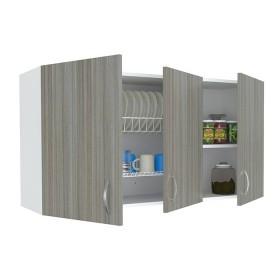 Gabinete Superior de Cocina INVAL Mikonos Humo/Blanco