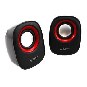 Parlante X-KIM USB/3.5 3W Negro/Rojo