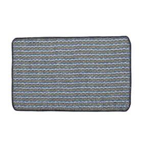 Tapete de baño TAPELANDIA Mix Grama 70 x 45 cm Azul Oscuro/Gris/Blanco