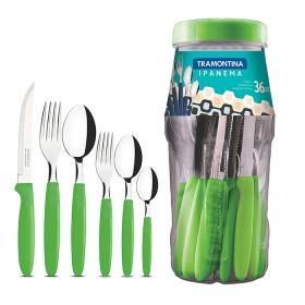 Juego TRAMONTINA x 36 Piezas de Cubiertos Ipanema Verde
