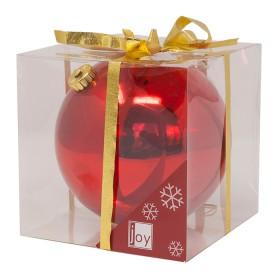 NAVIDAD Esfera Roja de 15 cm