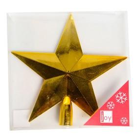 NAVIDAD Estrella para Tope de Arbol de 20 cm Dorada