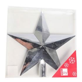 NAVIDAD Estrella para Tope de Arbol de 20 cm Plateada