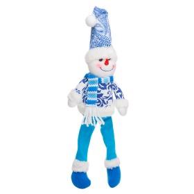 Colgante de Muñeco de Nieve Azul 12.5 cm