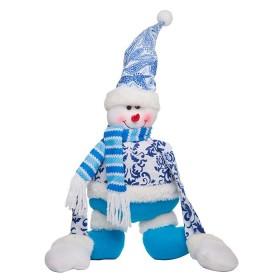 Colgante de Muñeco de Nieve Azul 11 cm