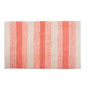 Tapete de Baño FREEHOME 50 x 80 Rayas Coral/Beige