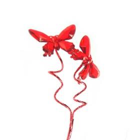 Rama en Acrílico con Mariposa Y Pick Rojo
