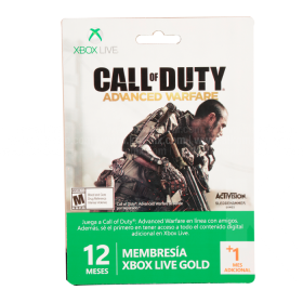 Tarjeta XBOX 360 Live 12 Meses + 1 Call Of Duty Advanced Warfare