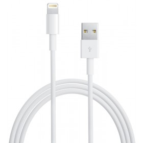 Cable APPLE USB  MD818AM/A USB/Lightni Bl 1MT