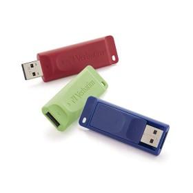 Memoria USB VERBATIM 16GB 2.0 Roja,Verde,Azul