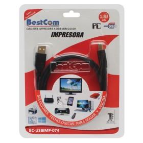 Cable USB Impresora BESTCOM 1.83 MTS