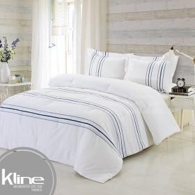Conforter K-LINE Queen Bordado Blanco