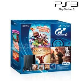 Bundle Estado Play - consola PS3 500GB Negra + 1 Control DualShock 3 + 4 Juegos