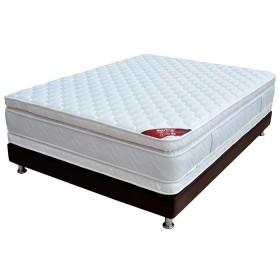 KOMBO SPRING: Colchón Resortado Doble Descanso Perfecto 140 x 190 cm + Base Cama Salin