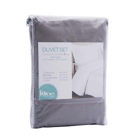 Duvet K-LINE Extradoble Sesgo Gris 144 hilos