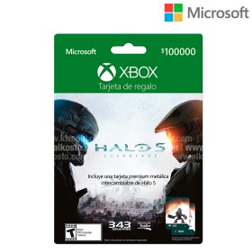 Tarjeta Regalo XBOX  $100.000 Halo 5 The guardians