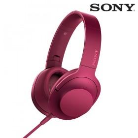 Audífonos SONY de diadema MDR-100AAP rosados con audio de alta resolución