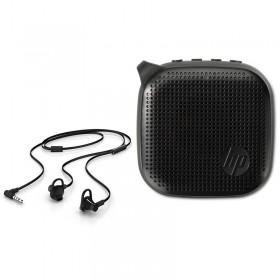 Kit Regalo Perfecto HP Audífono + Parlante Negro