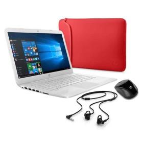 """Portátil HP - 14-AX029LA - Intel Celeron - 14"""" Pulgadas – Disco Duro 32Gb – Blanco"""