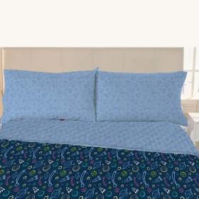 Juego de cama K-LINE Sencillo Estampado Línea Infantil Planetas