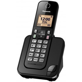 Teléfono Inalámbrico Dect Panasonic ID TGC350 Negro