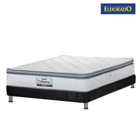 KOMBO ELDORADO: Colchón Doble Tahoma 140x190 cms Resortado + Base Cama Nova Negra