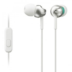 Audifonos Sony Alámbricos InEar ML EX110 Blancos