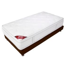 KOMBO SPRING: Colchón 100 x 190 New 7 + Base cama Salin Sencilla